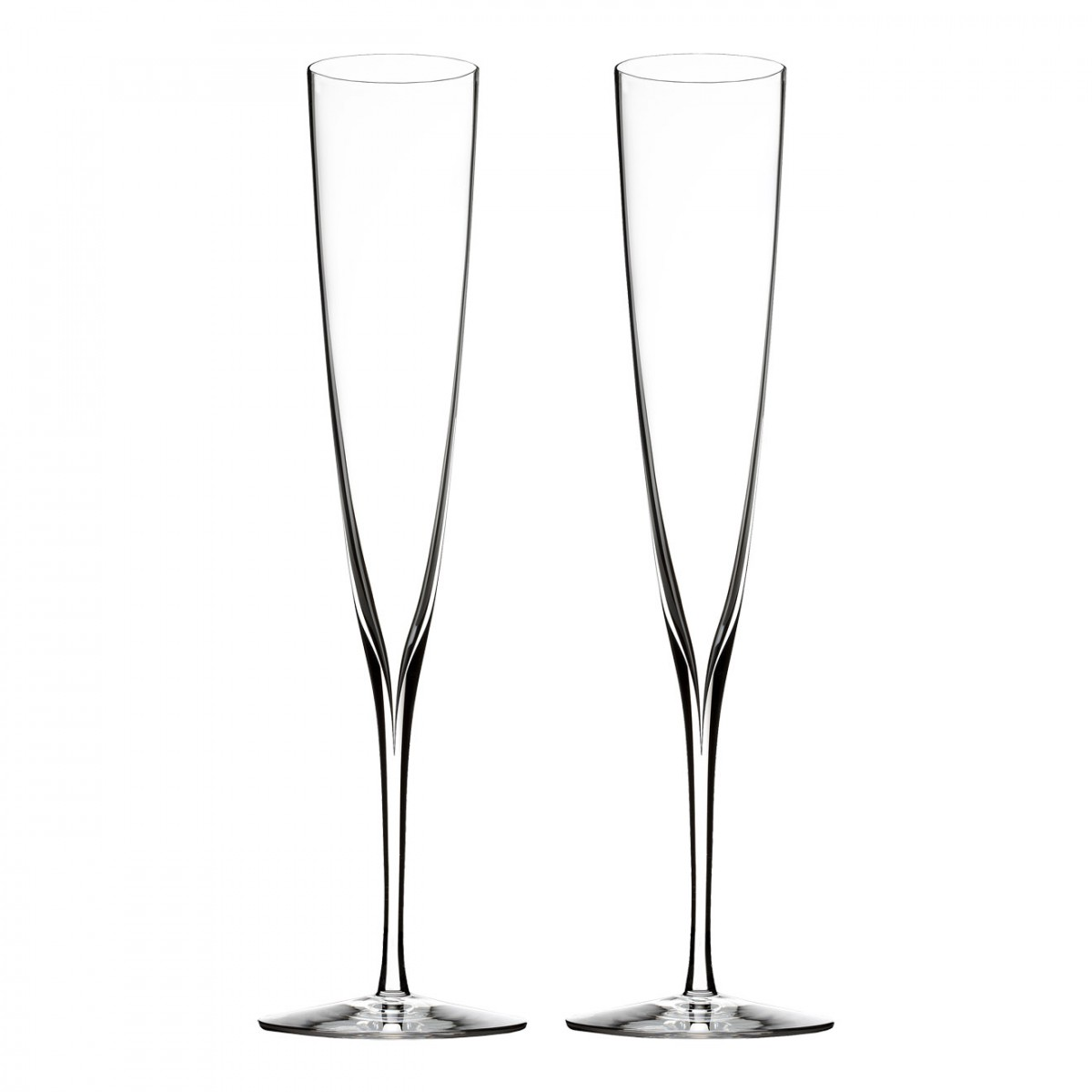 Waterford Crystal, Elegance Trumpet Champagne Toasting Flutes, Pair