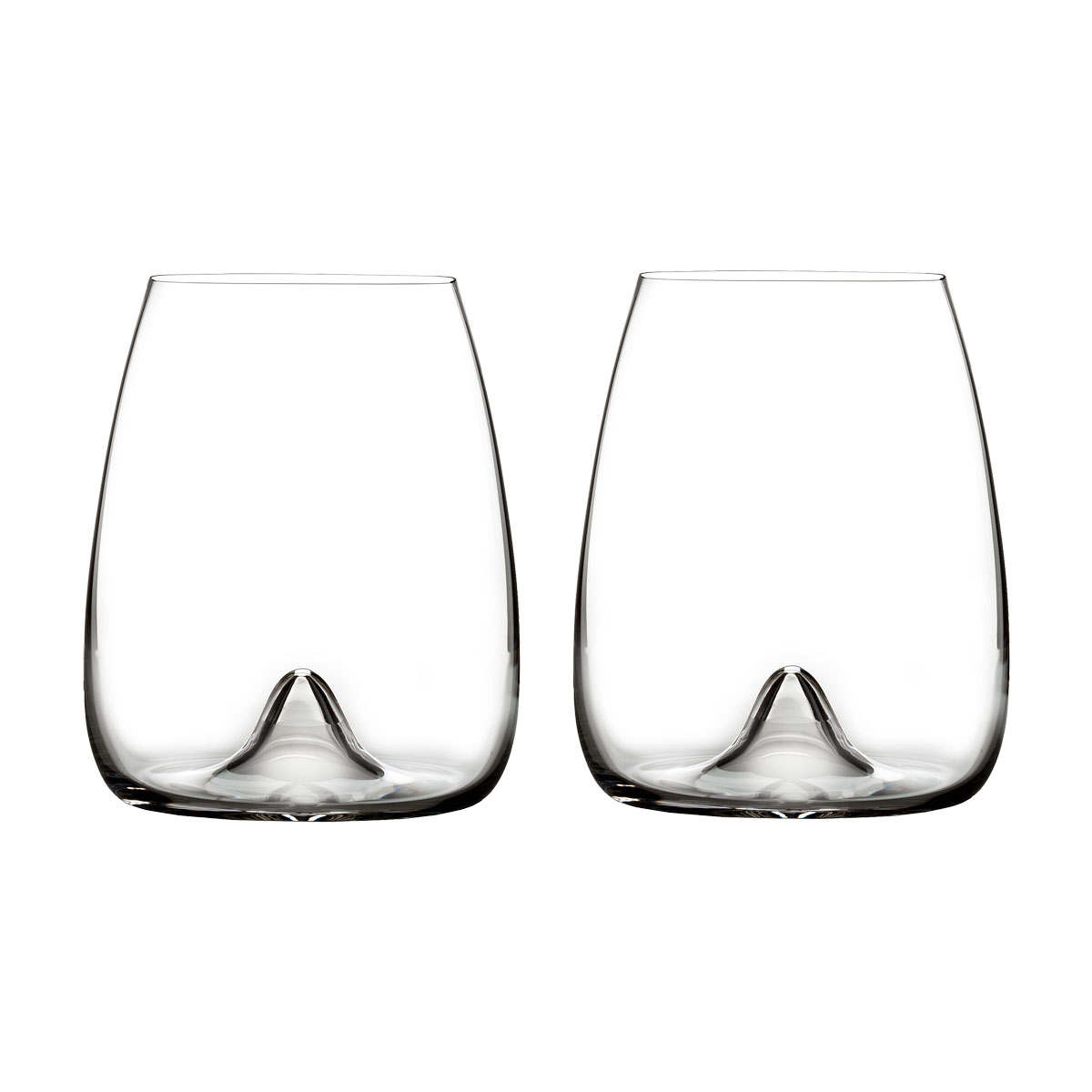 Waterford Crystal, Elegance Stemless Crystal Wine Glass, Pair