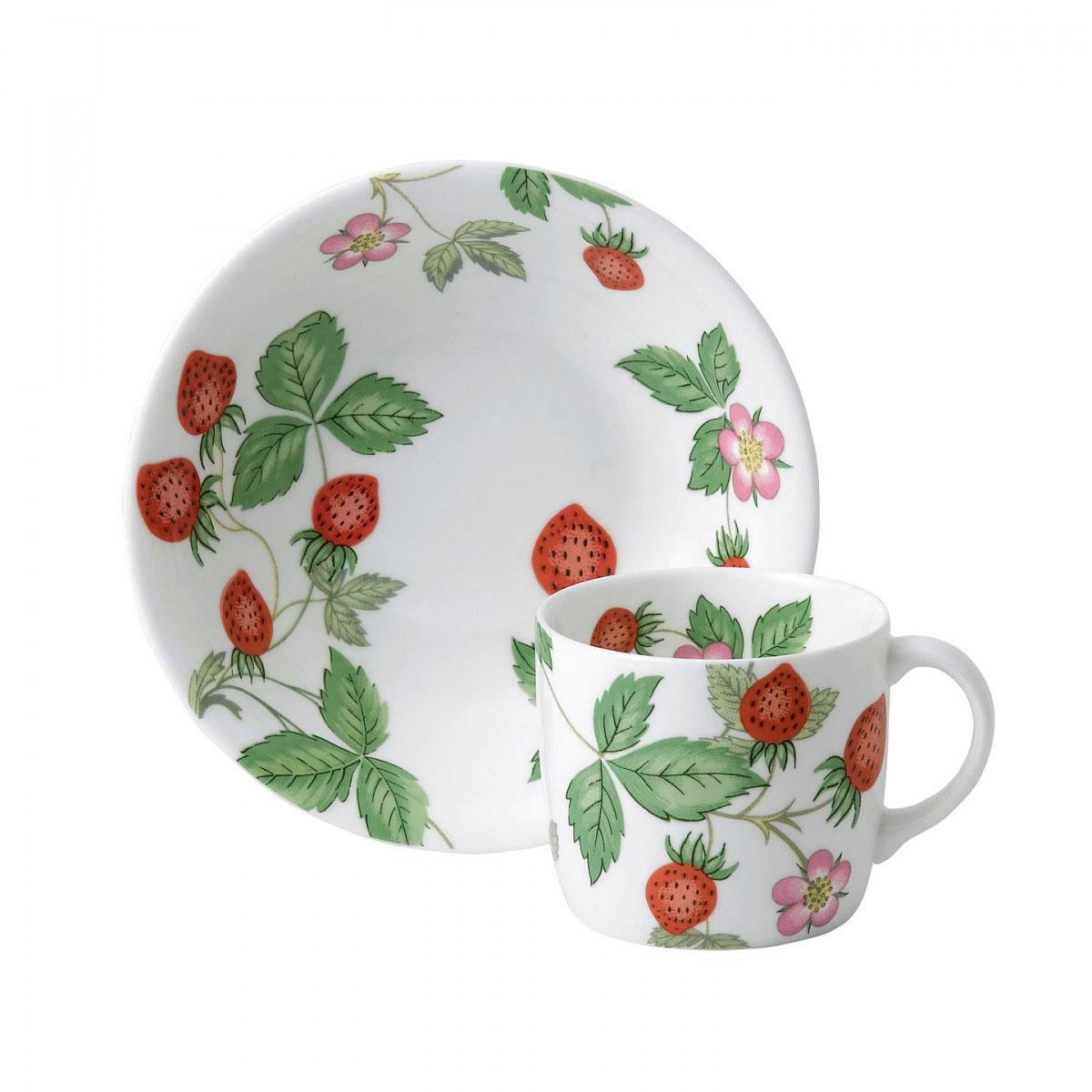 Wedgwood China Wild Strawberry Nurseryware Small Mug and Bowl 2-Piece Set
