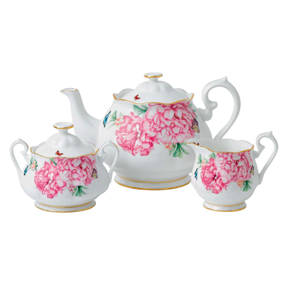 Miranda Kerr For Royal Albert Friendship Teapot, Sugar and Creamer