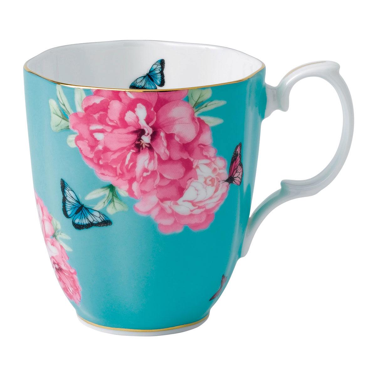 Royal Albert Friendship Vintage Mug 13.5 Oz Turquoise