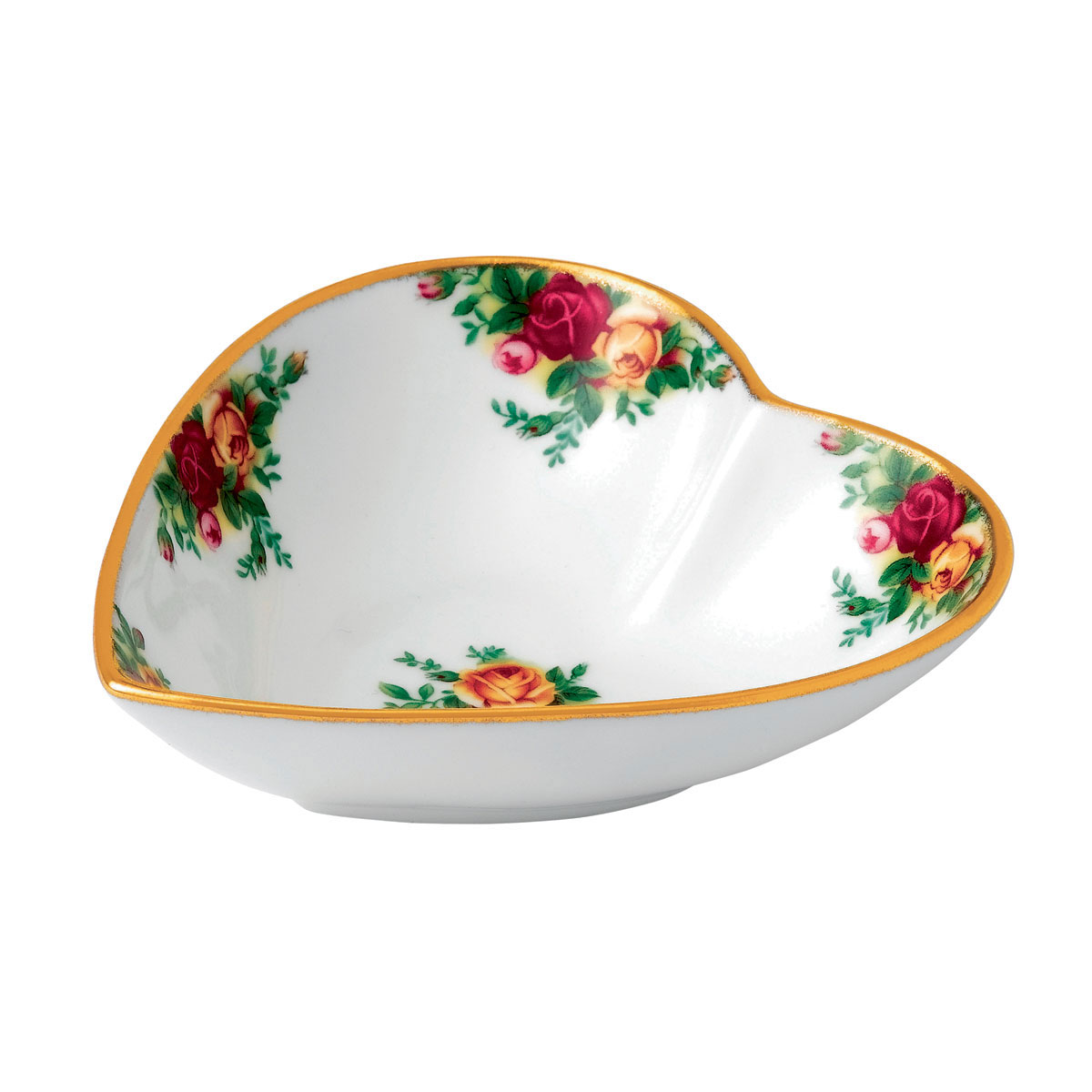 """Royal Albert Old Country Roses Heart Tray 5.1"""""""
