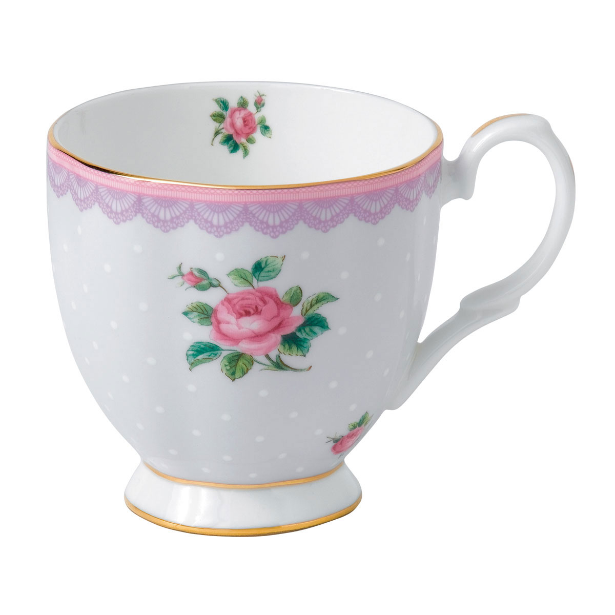 Royal Albert Candy Vintage Mug 10.5 Oz Love Lilac