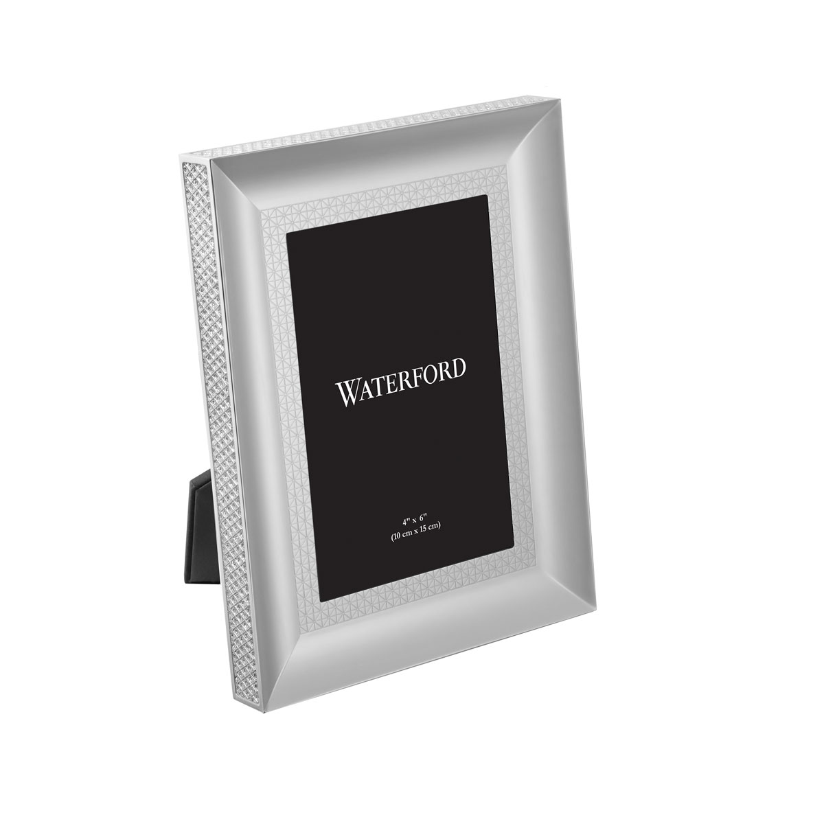 """Waterford Crystal, Lismore Diamond Silver 4x6"""" Picture Frame"""