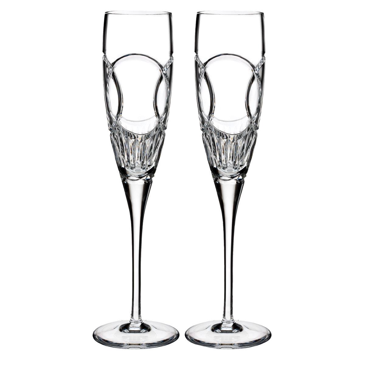 Waterford Crystal True Love Wedding Vows Flutes, Pair
