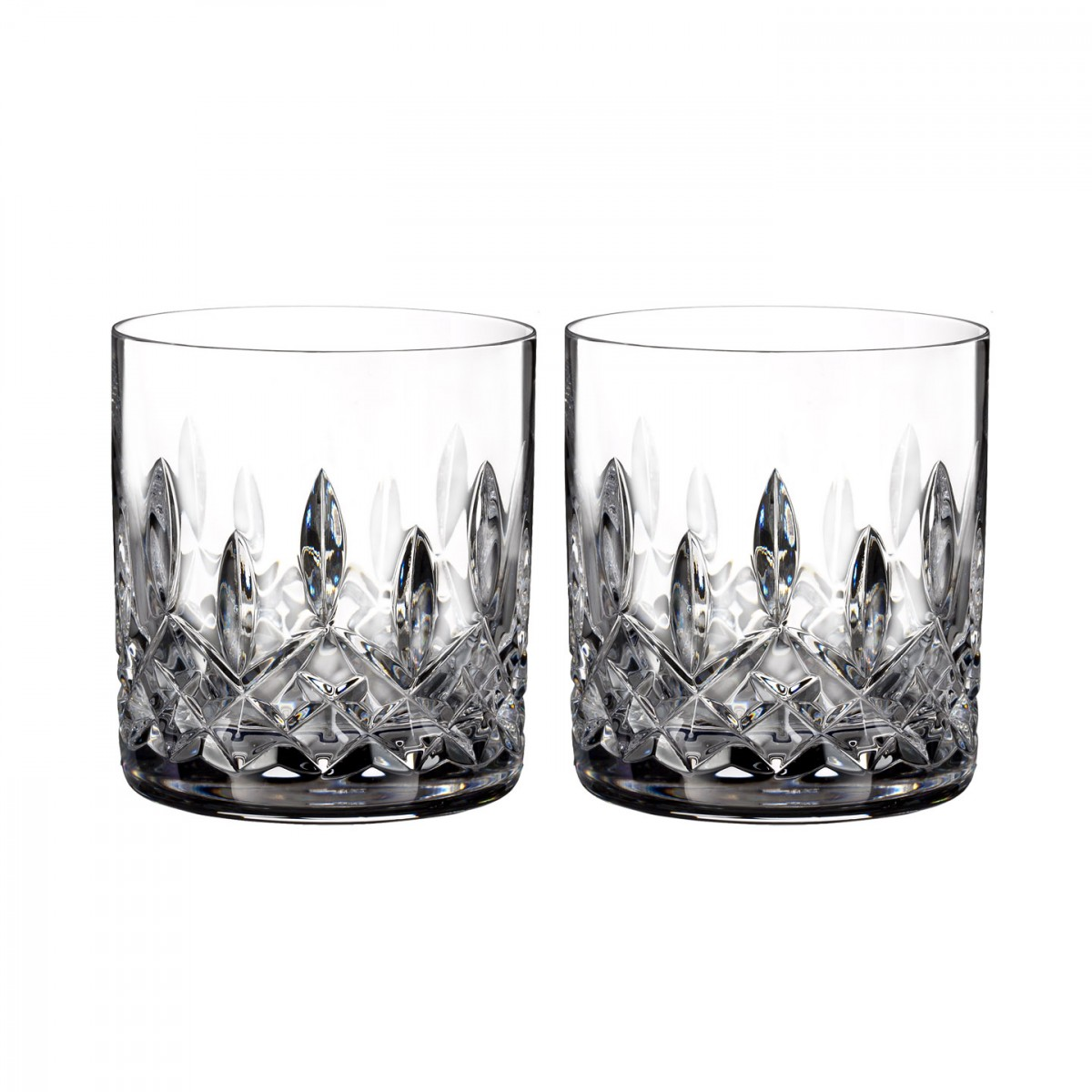 Waterford Crystal, Lismore Straight Sided Whiskey Tumblers, Pair