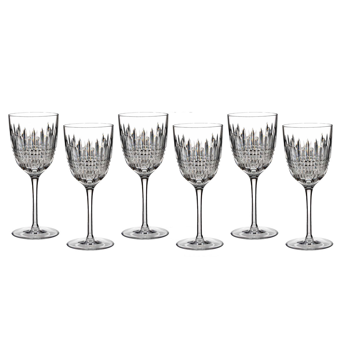 Waterford Crystal, Lismore Diamond Crystal Goblet, Boxed Set 5+1 Free