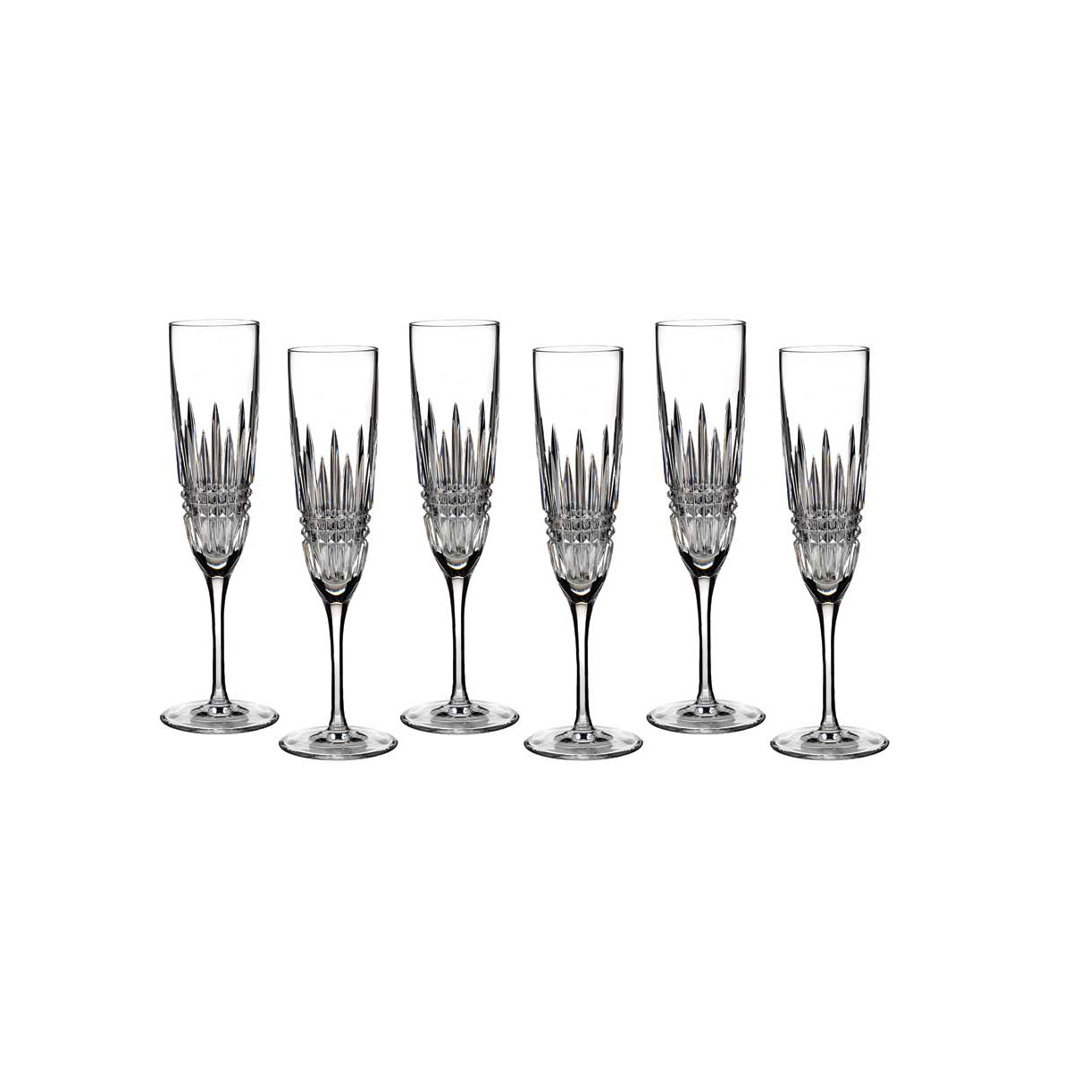 Waterford Crystal, Lismore Diamond Crystal Flute, Boxed Set 5+1 Free