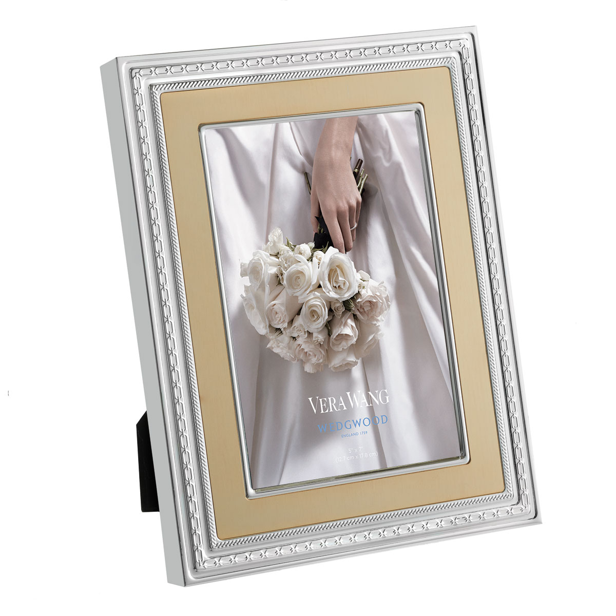 Vera Wang Wedgwood With Love Gold 5x7 Frame