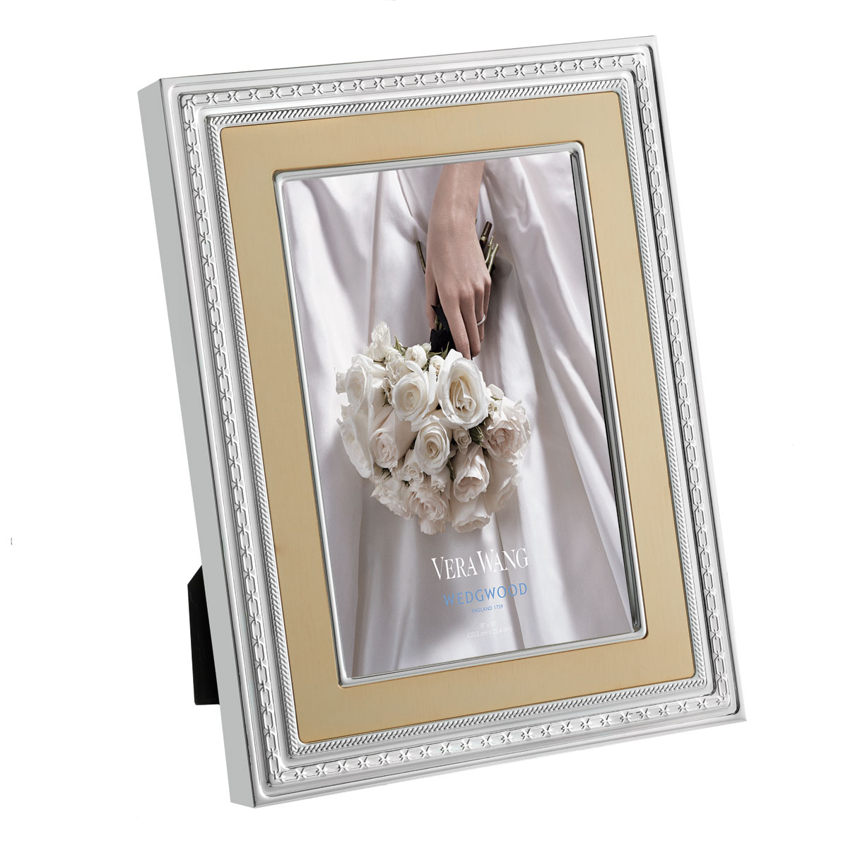 """Vera Wang Wedgwood With Love Gold Frame 8x10"""""""