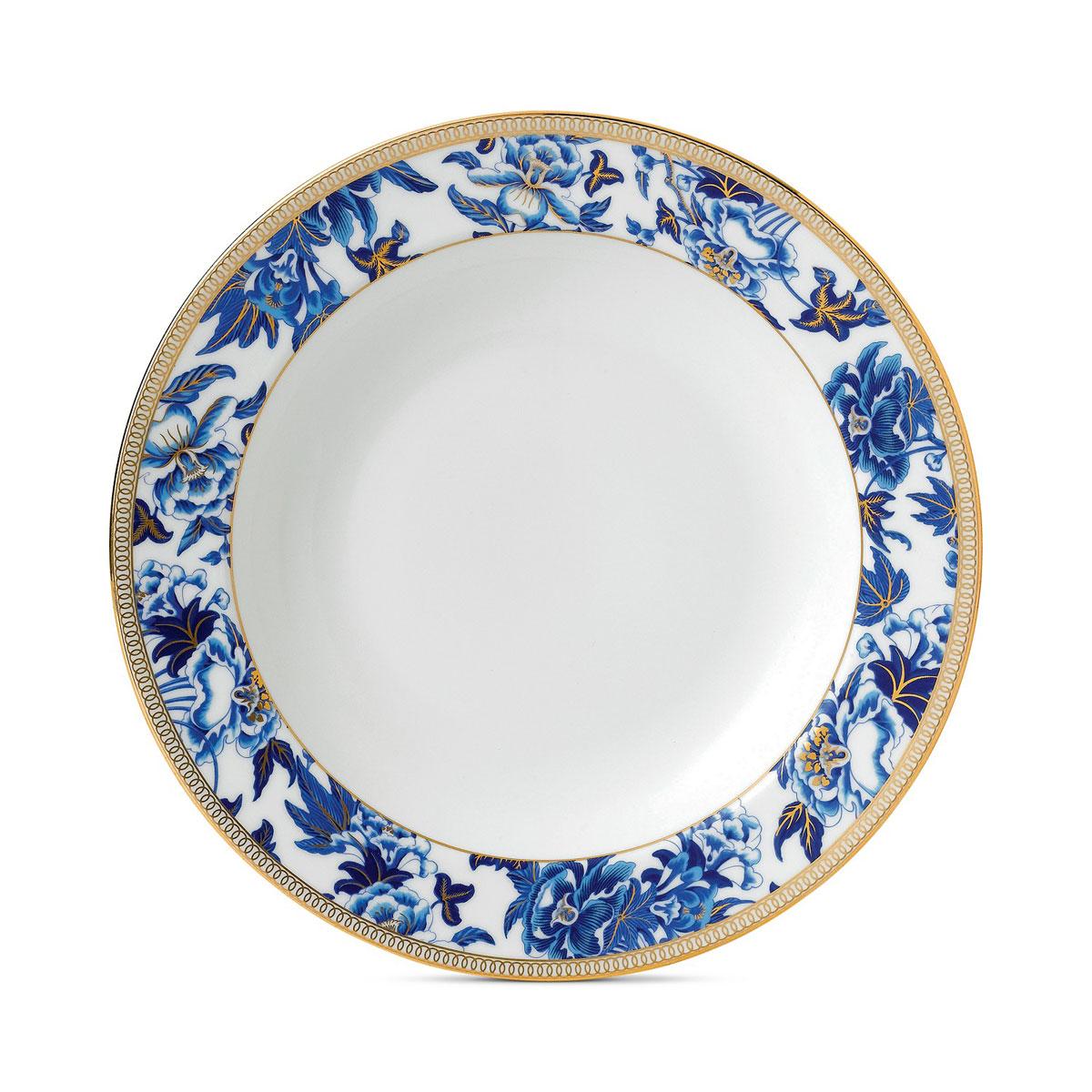 "Wedgwood China Hibiscus Rim Soup Bowl 9"""