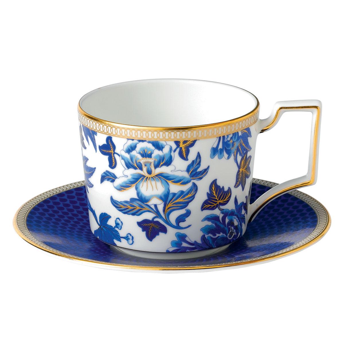 Wedgwood China Dinnerware Hibiscus Teacup and Saucer