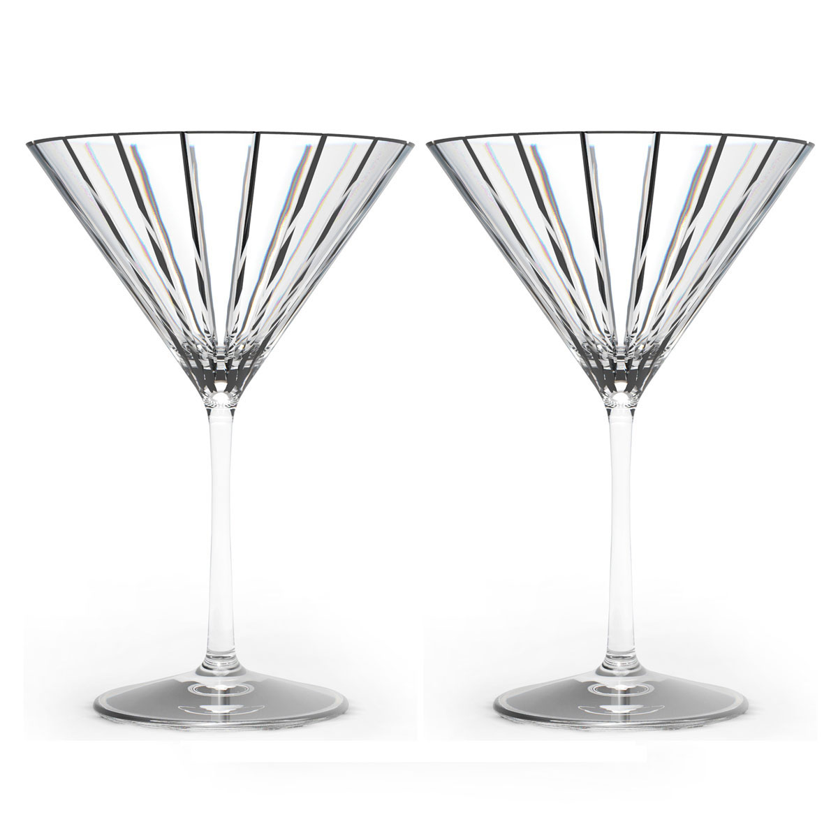 Rogaska Crystal, Avenue Crystal Martini, Pair