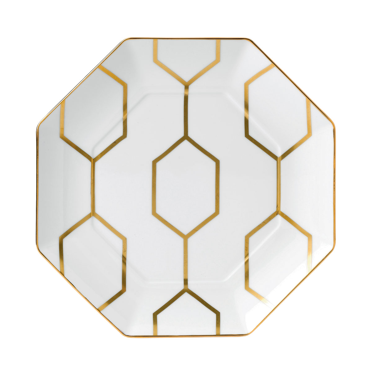 "Wedgwood Arris Accent Plate Octagonal 9.1"" White"