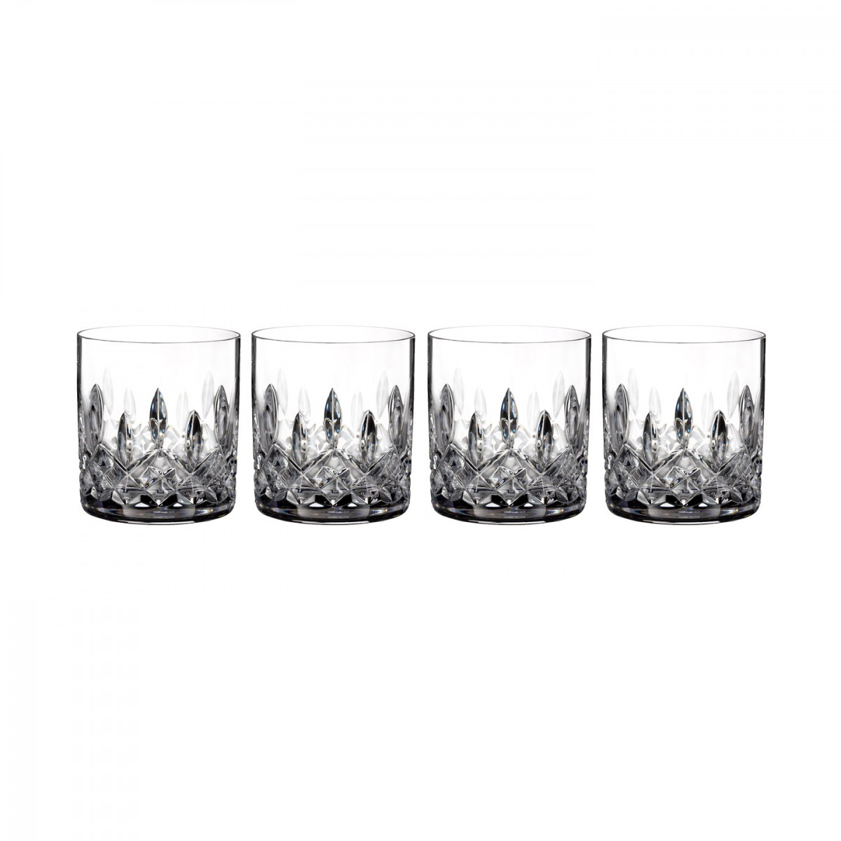 Waterford Crystal, Lismore Straight Sided Crystal Whiskey Tumblers, Set of Four