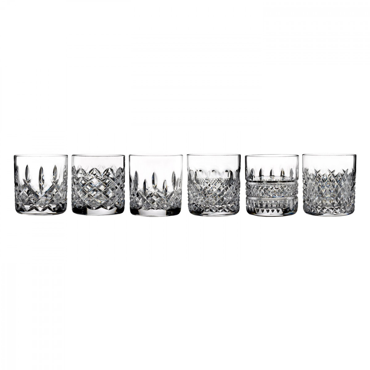 Waterford Crystal, Heritage Straight Sided Whiskey Tumblers, Set of Six