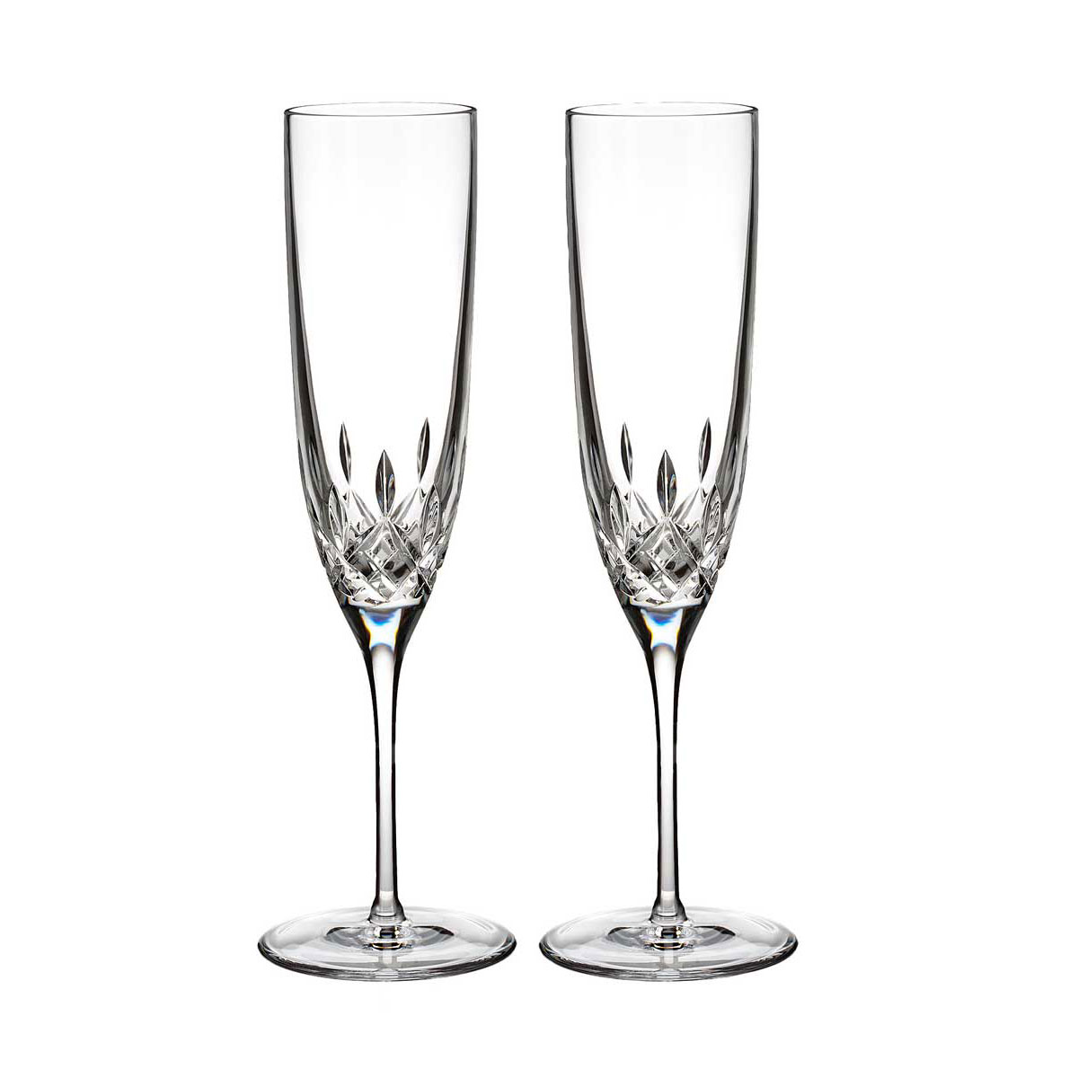 Waterford Lismore Encore Champagne Flutes, Pair