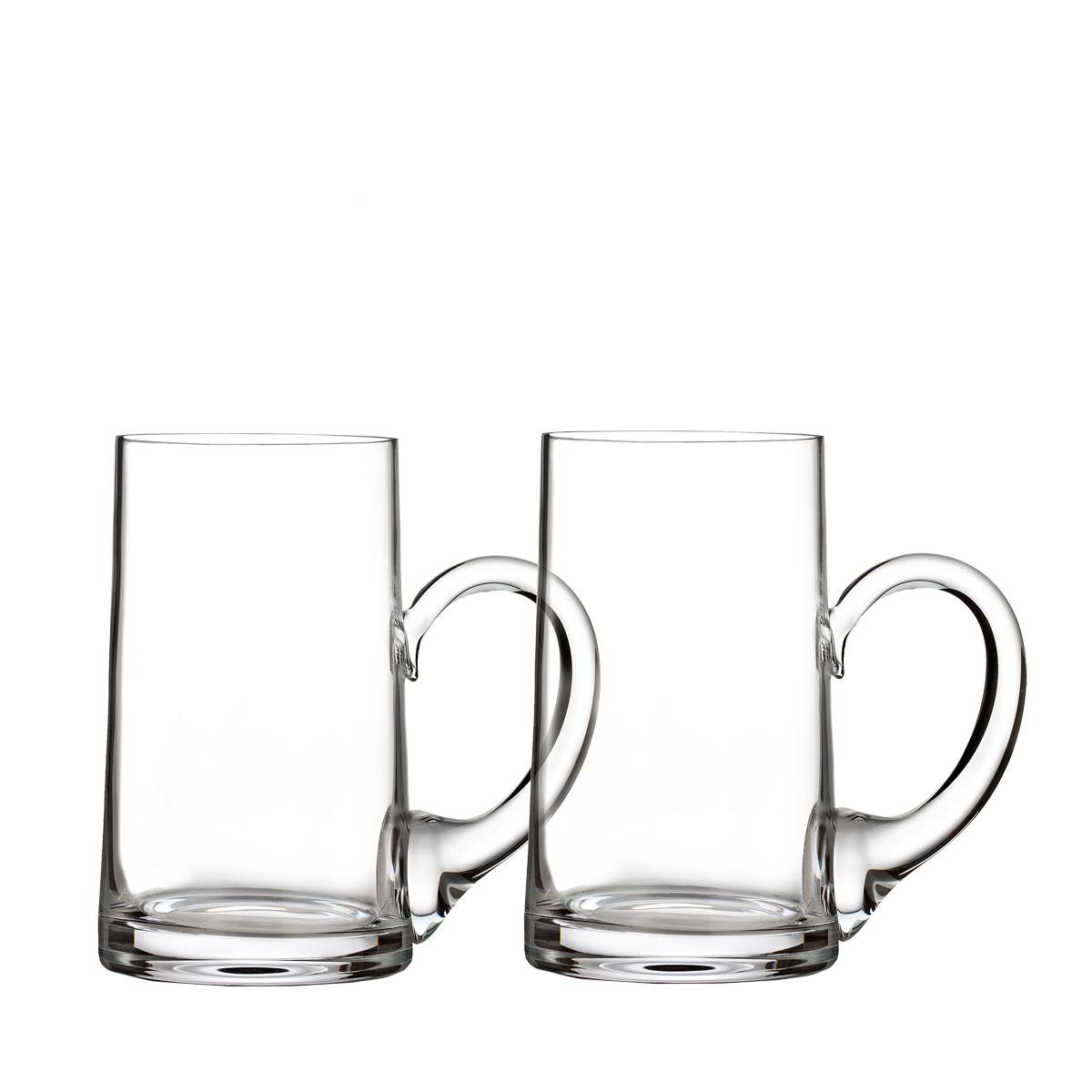 Waterford Crystal, Elegance Beer Mugs, Pair