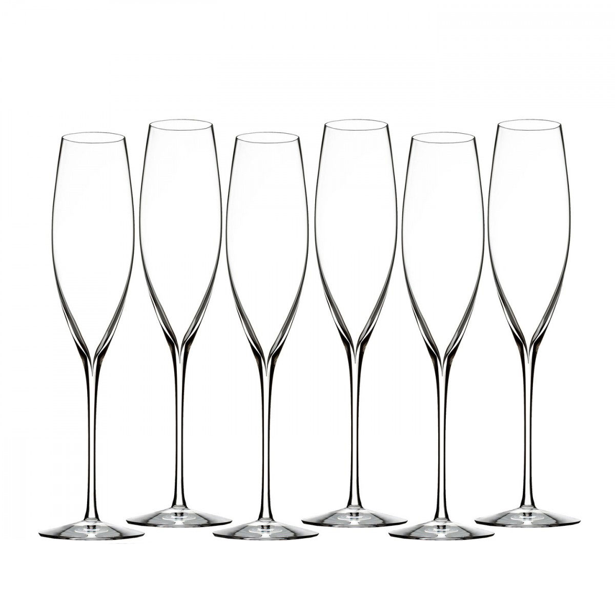 Waterford Crystal, Elegance Classic Champagne Toasting Crystal Flute, Set of Six