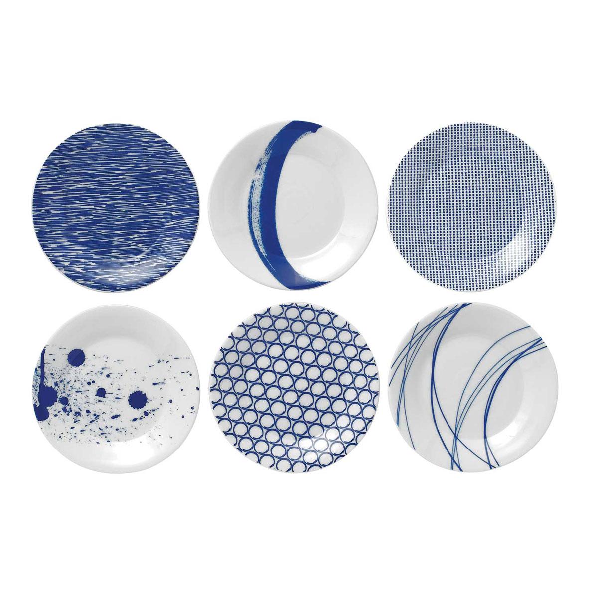 Royal Doulton Pacific Set of Six Tapas Plates Mixed Patterns