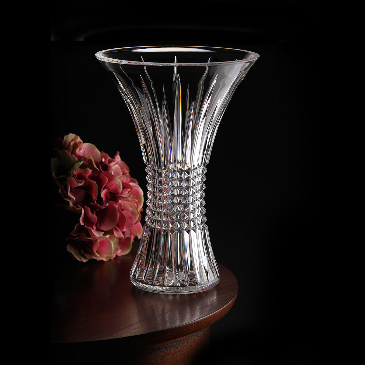 Waterford Crystal, House of Waterford Trilogy Lismore Diamond Crystal Vase