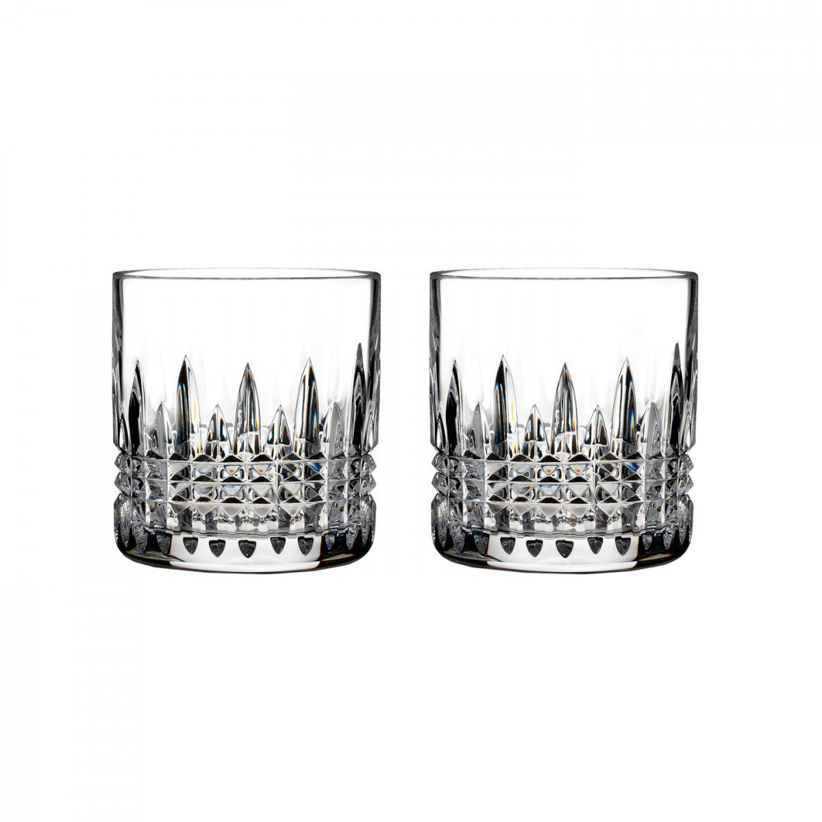 Waterford Lismore Diamond Straight Sided Whiskey Tumblers, Pair