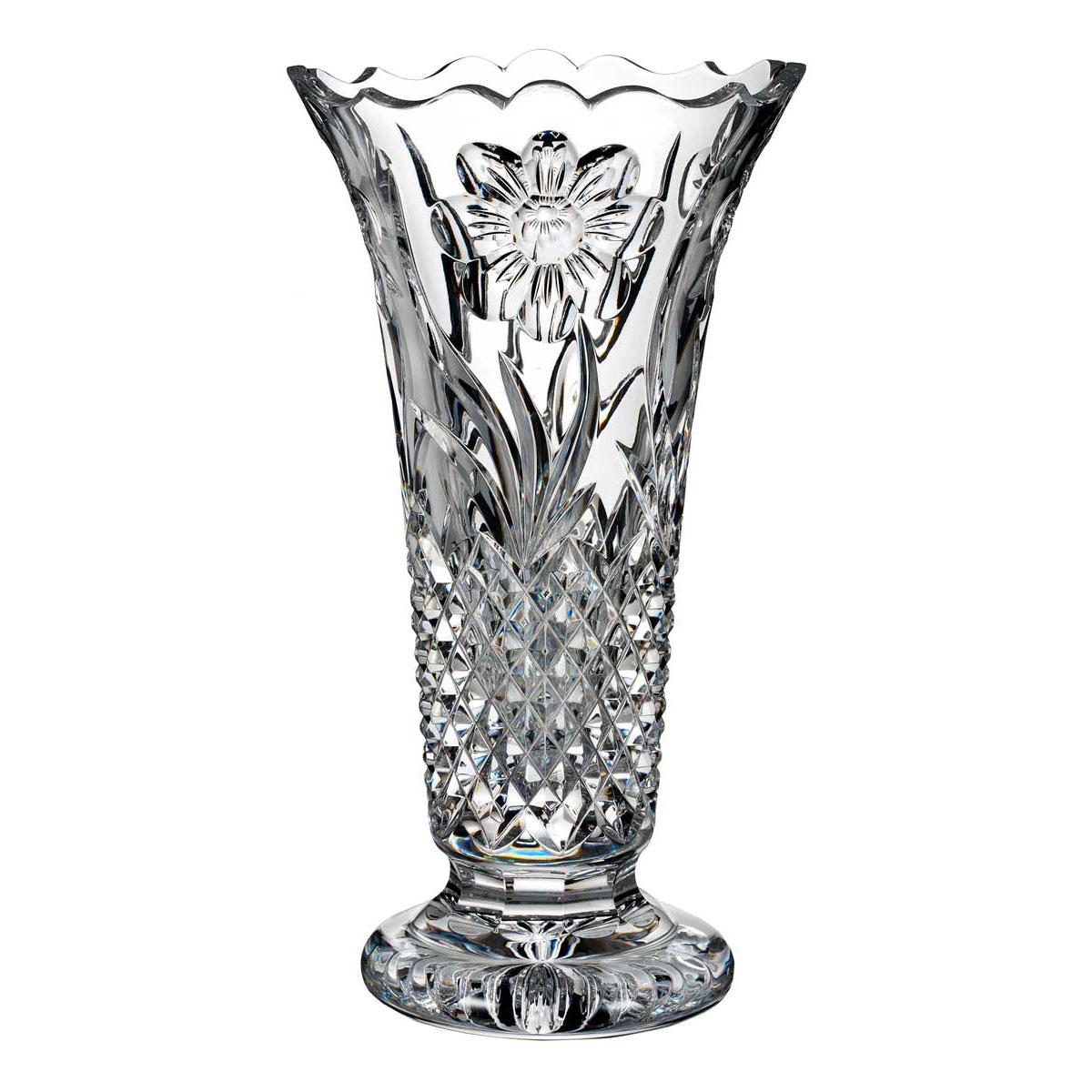 "Waterford Crystal, House of Waterford Magnolia 12"" Crystal Vase"