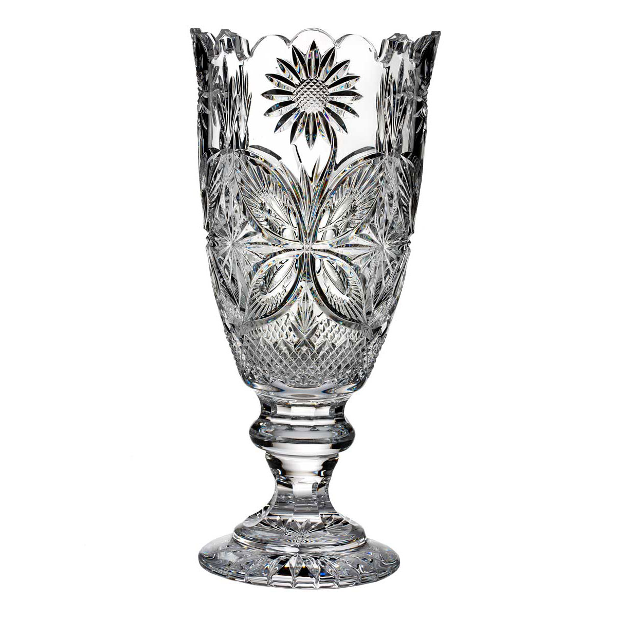 "Waterford Crystal, House of Waterford Mt. Congreve 18"" Summer Crystal Vase, Limited Edition of 250"