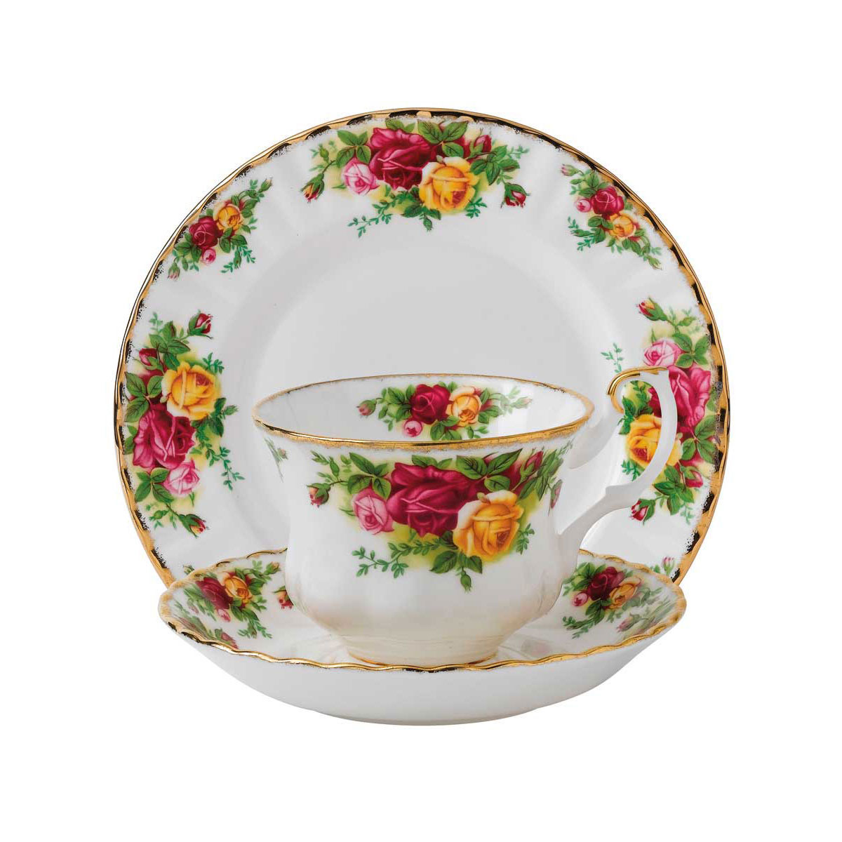 """Royal Albert Old Country Roses Teacup, Saucer and 8"""" Plate Set"""