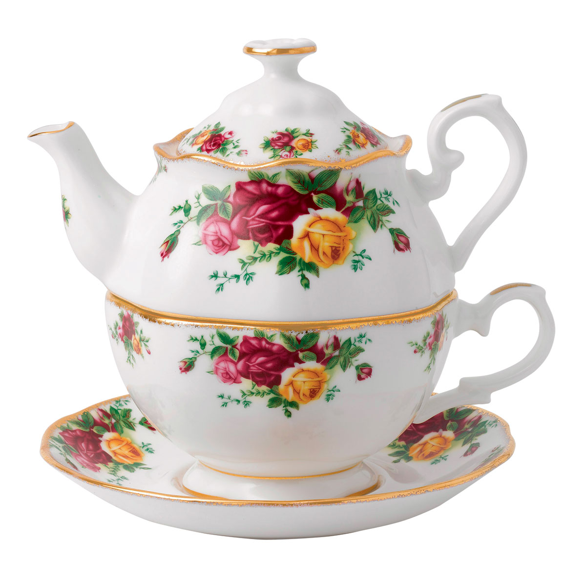 Royal Albert China Old Country Roses Tea For One