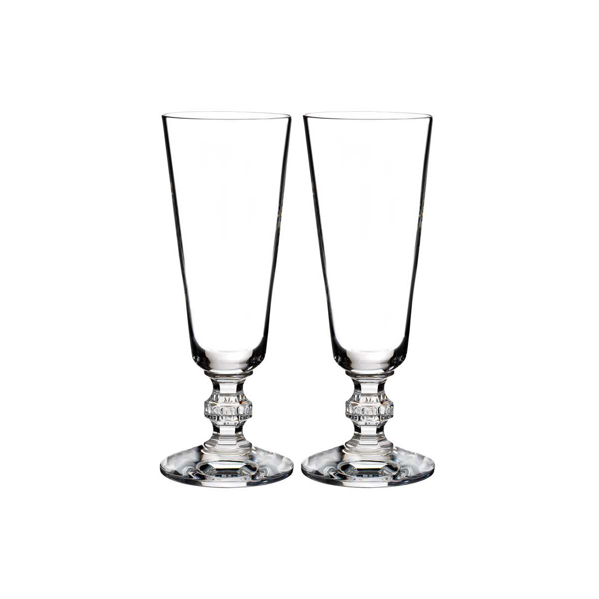 Waterford Crystal, Town and Country Ashton Lane Crystal Flutes, Pair