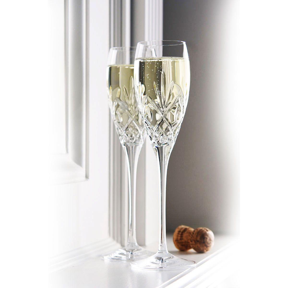 Waterford Crystal Huntley Toasting Flutes Pair
