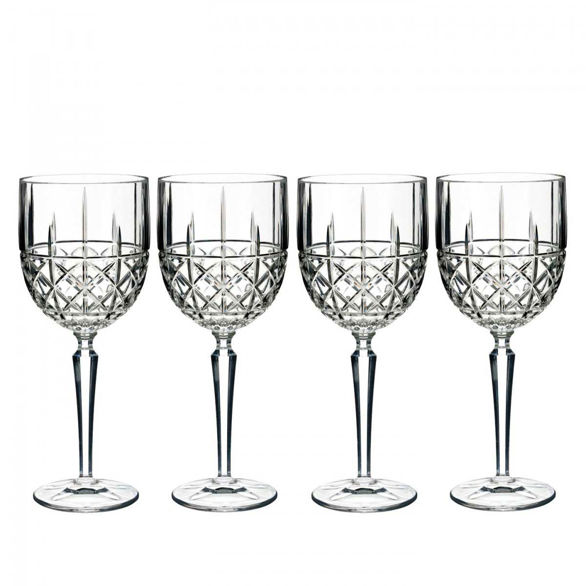 Marquis by Waterford, Brady Goblet, Red Wine, Set of Four