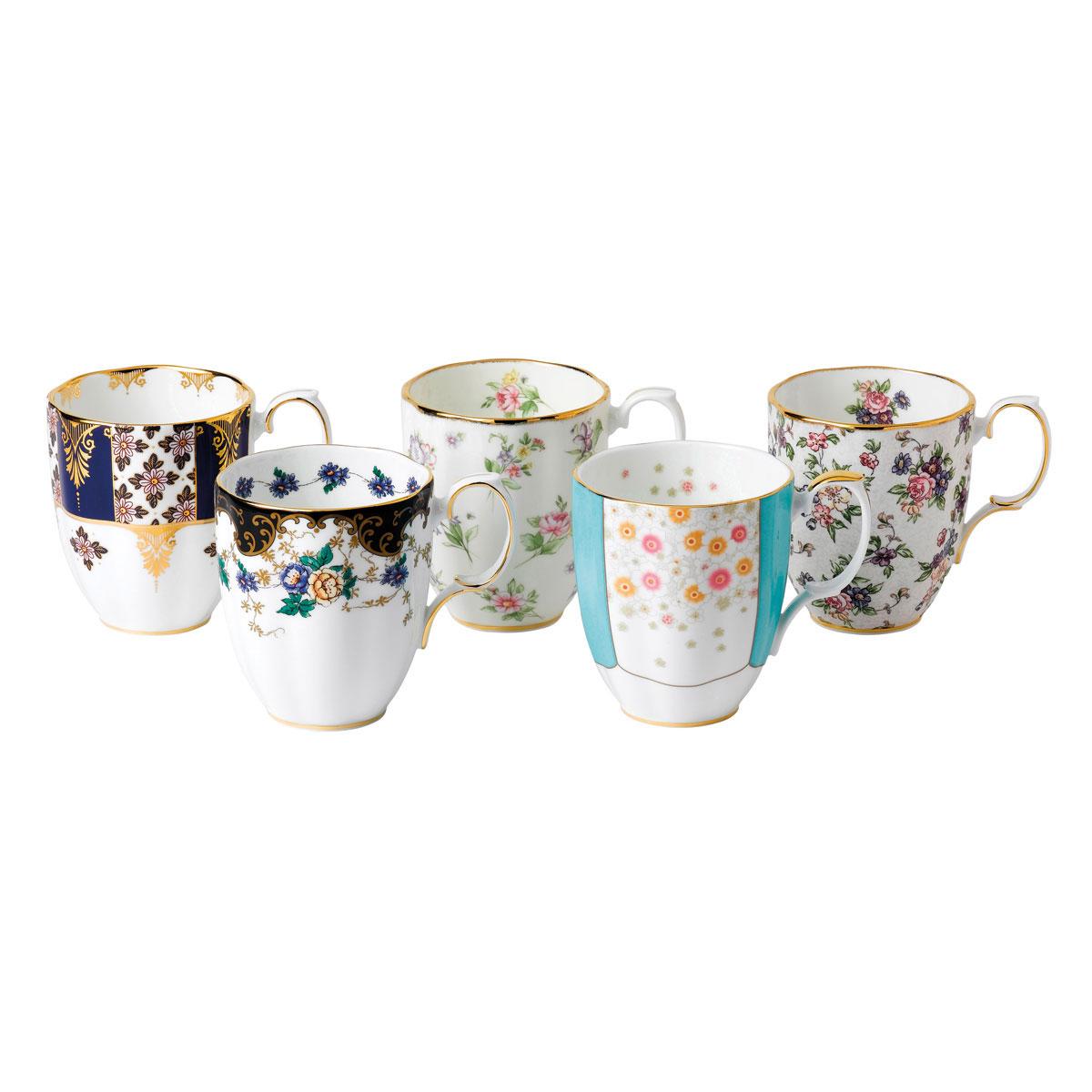Royal Albert 100 Years 1900-1940 5-Piece Mug Set 14.1 Oz