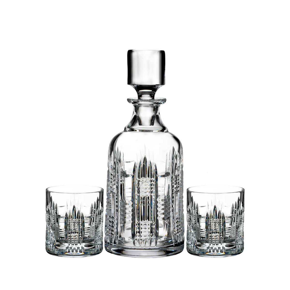 Waterford Crystal, Dungarvan Spirit Decanter and Two DOF Tumblers, Set