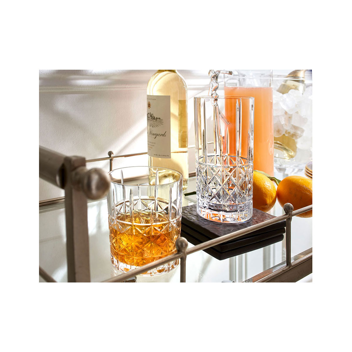 Marquis by Waterford Crystal Brady Decanter, 2 DOF Tumbler Set