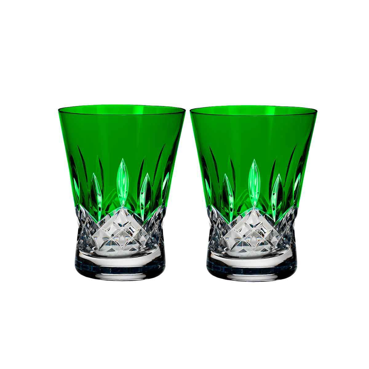 Waterford Crystal, Lismore Pops Emerald Crystal DOF Tumbler, Pair