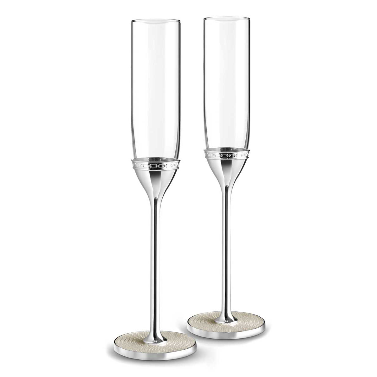 Vera Wang Wedgwood With Love Nouveau Toasting Flutes Pair, Pearl