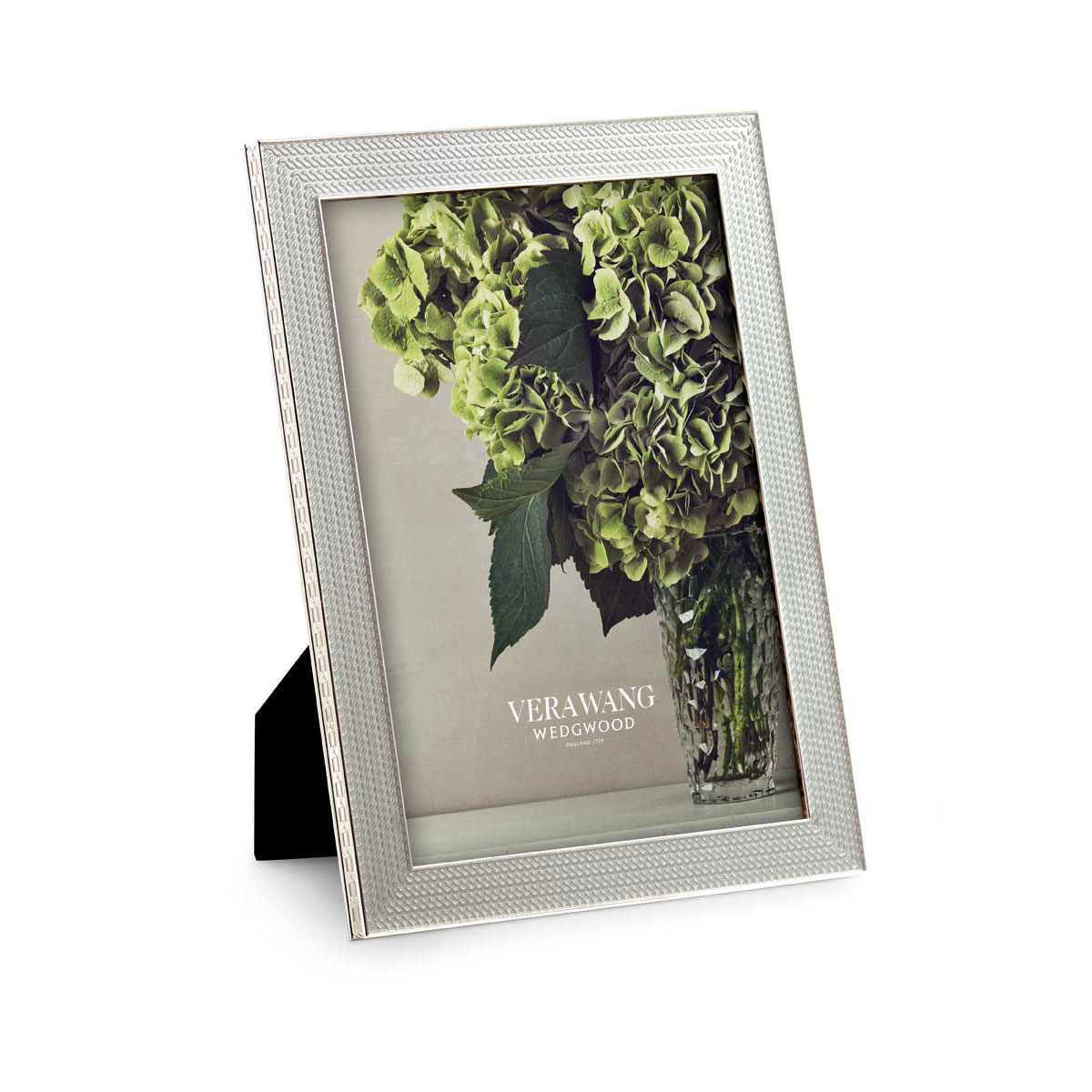 "Vera Wang Wedgwood With Love Nouveau 5""x7: Picture Frame, Silver"
