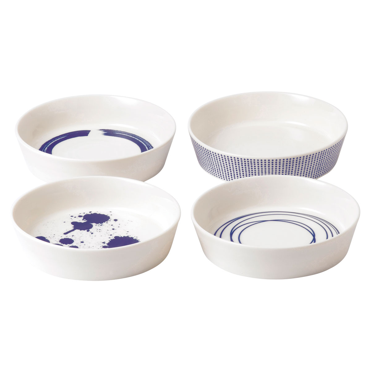 """Royal Doulton Pacific Mixed Patterns Round Serving Dish 6.3"""" Set of 4"""
