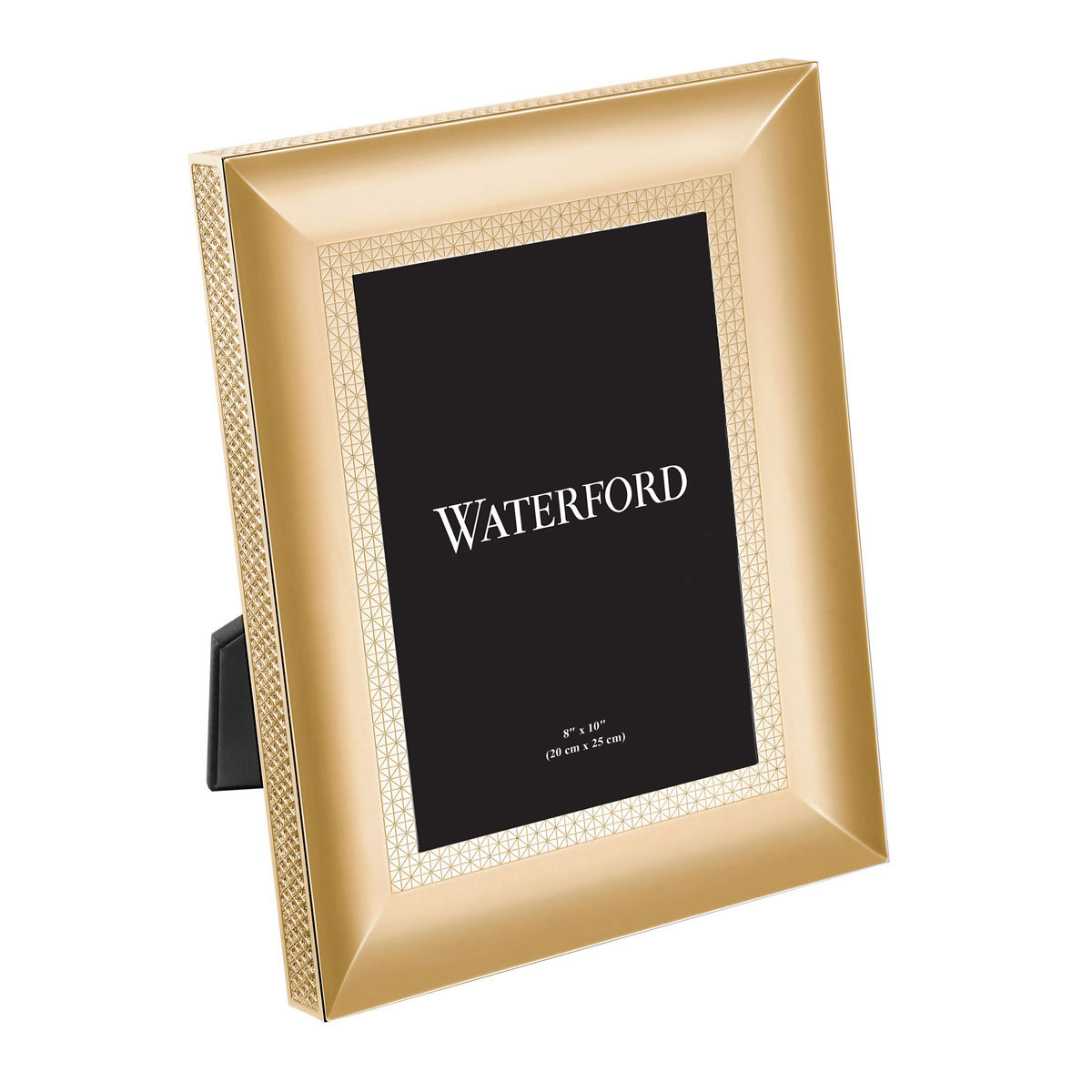 "Waterford Lismore Diamond Gold 8x10"" Metal Frame"