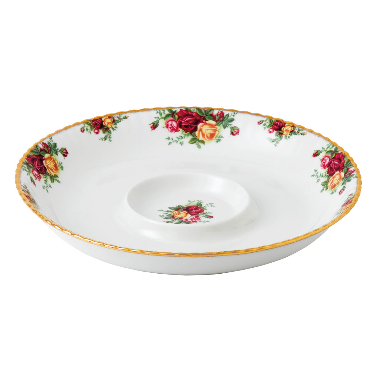 """Royal Albert Old Country Roses Chip and Dip Server 13"""""""