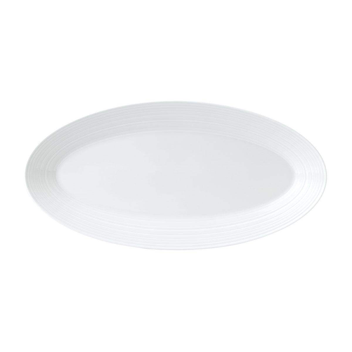 """Wedgwood Jasper Conran White Strata Oval Platter 15.3"""""""
