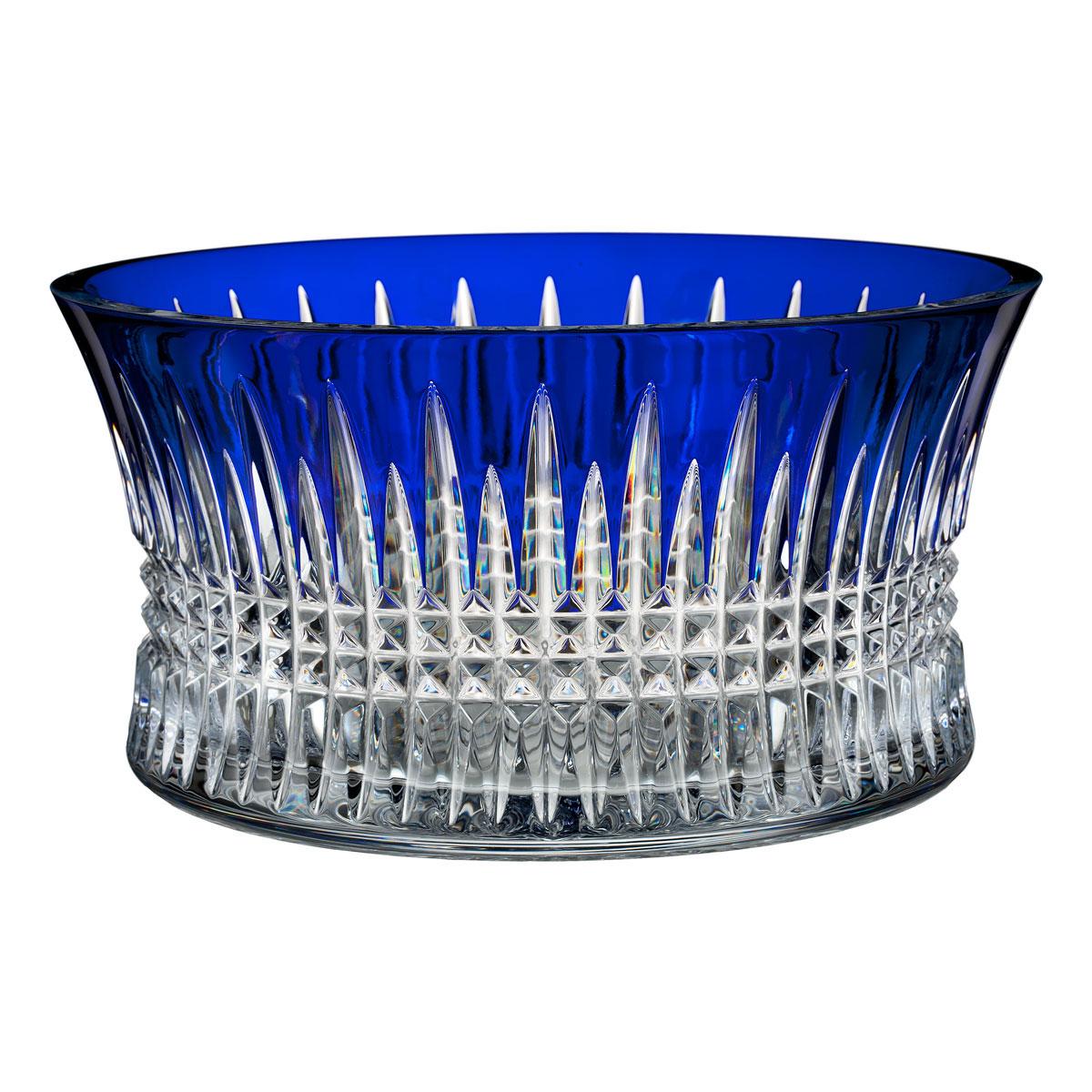 "Waterford Crystal, Lismore Diamond Cobalt 10"" Crystal Bowl"