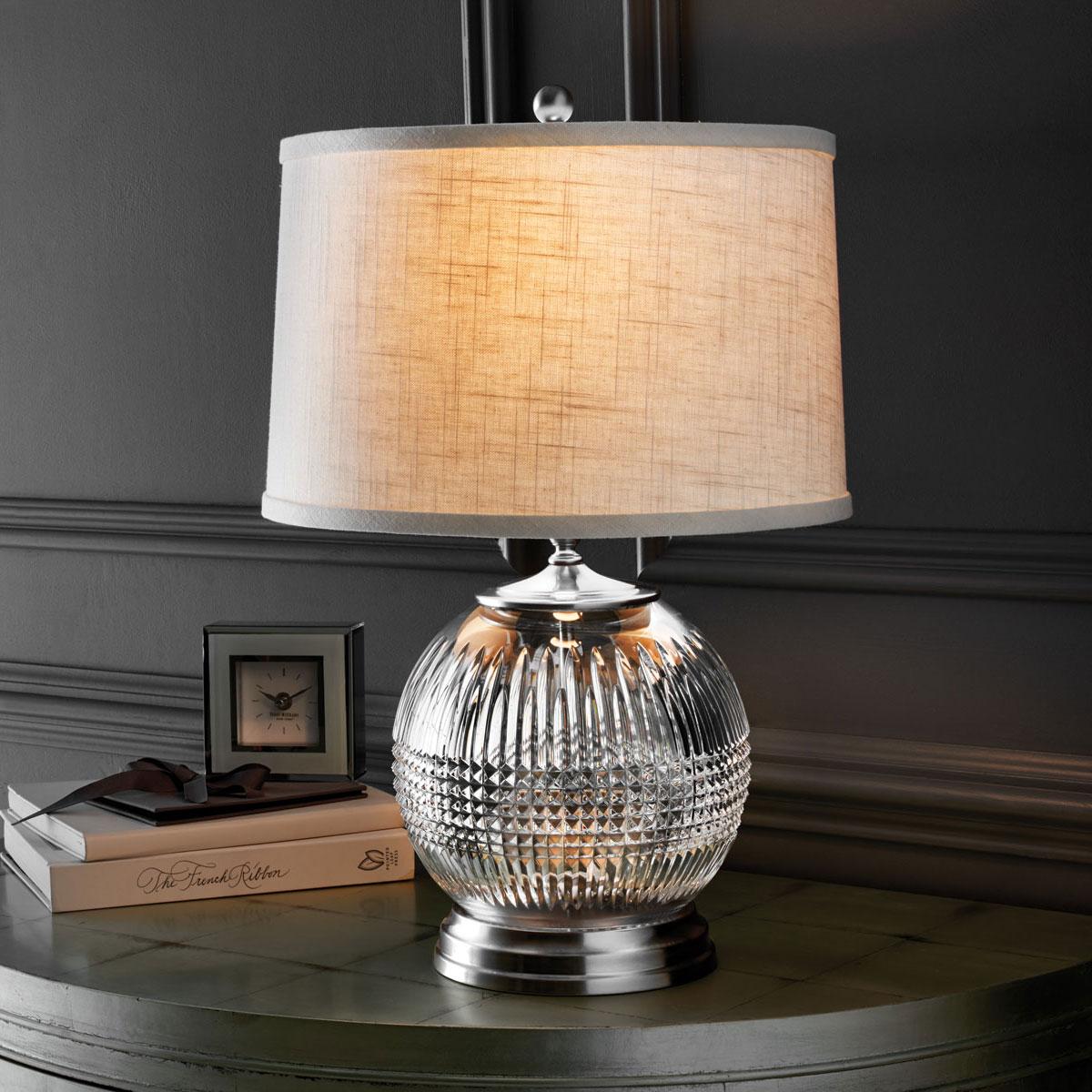 "Waterford Crystal, Lismore Diamond 21"" Table Lamp"