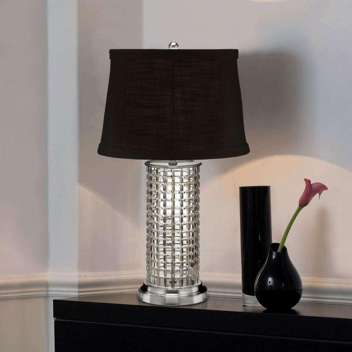 "Waterford Crystal, Kilrush 26"" Table Crystal Lamp"