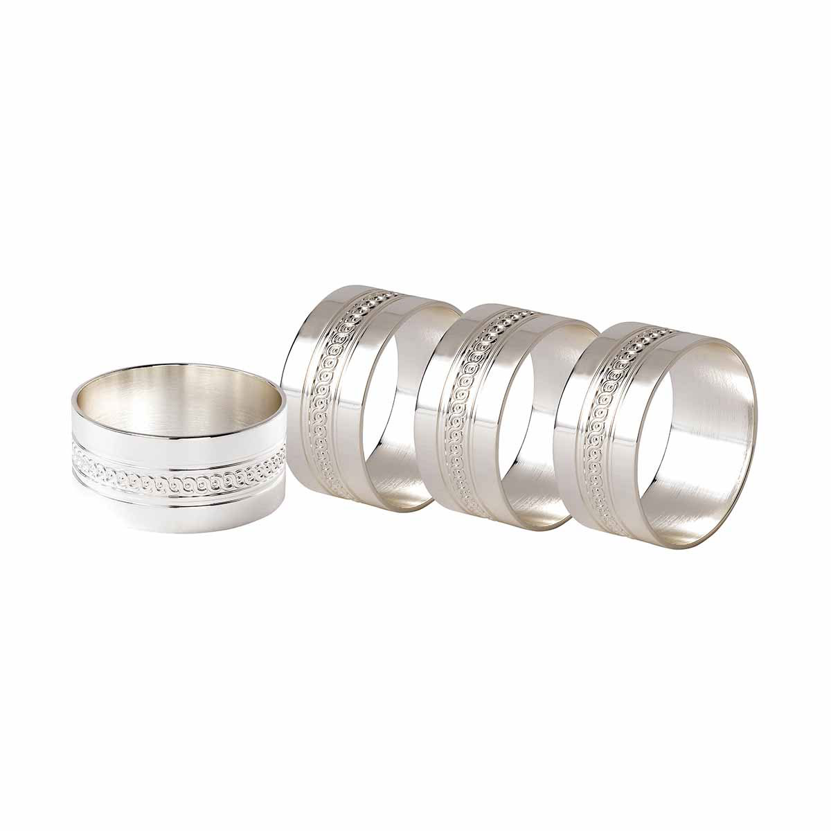 Wedgwood Silver, Simply Wish Napkin Ring, Set of 4