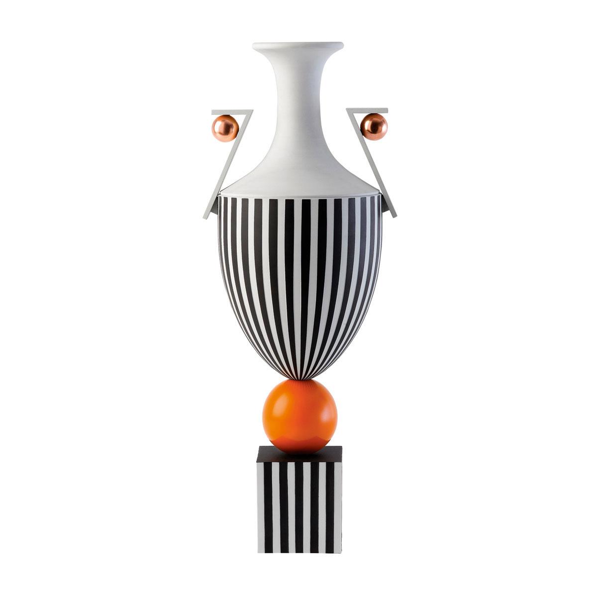 Wedgwood Prestige Jasperware Lee Broom Tall Vase on Orange Sphere, Limited Edition