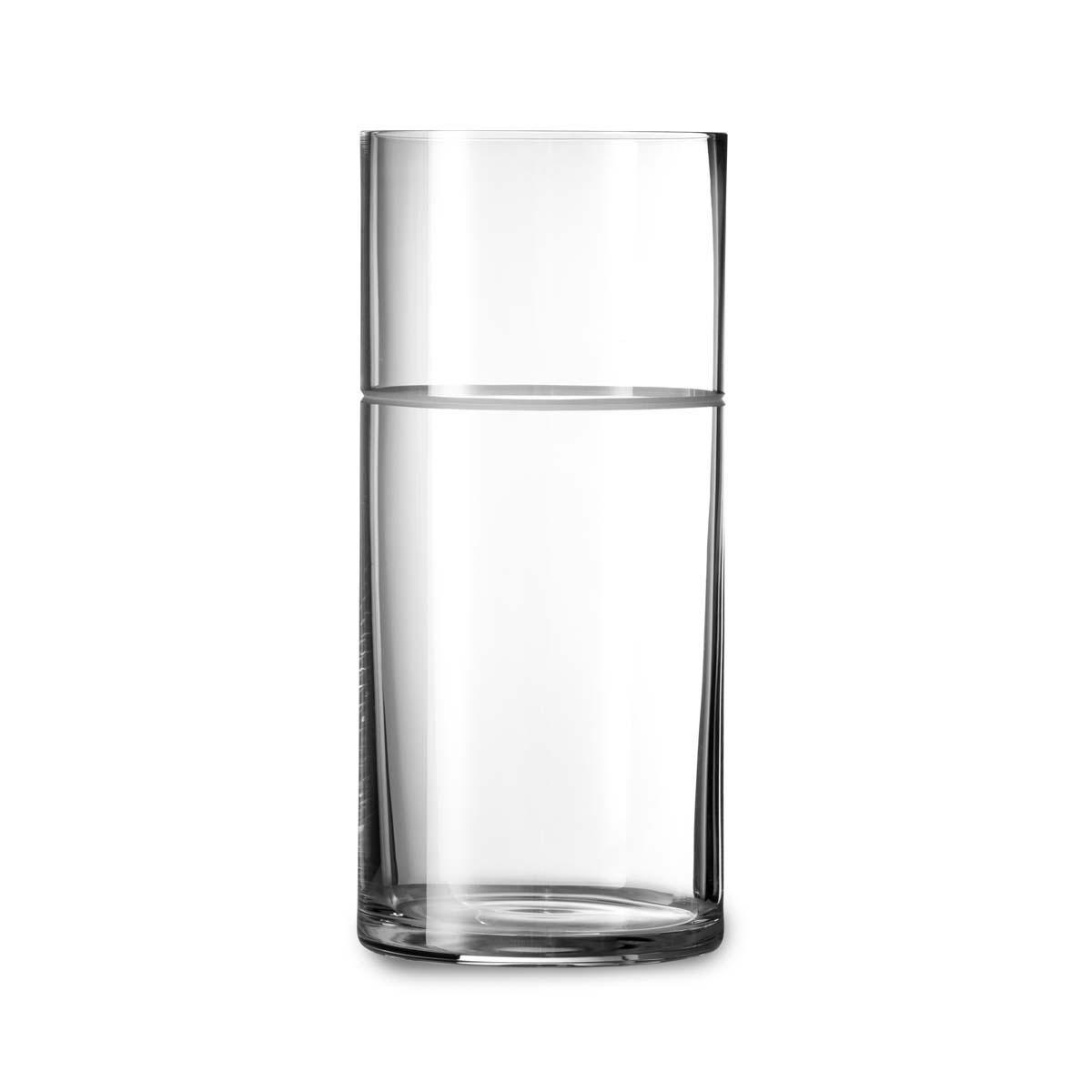 """Vera Wang Wedgwood Vera Bande 11"""" Crystal Vase"""