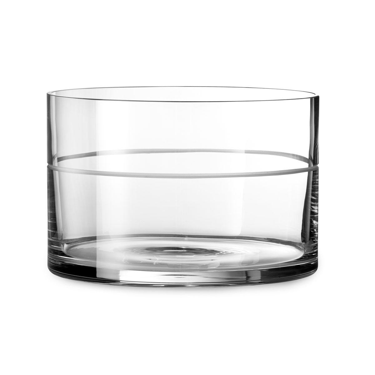 """Vera Wang Wedgwood Vera Bande Crystal 8.5"""" Bowl"""
